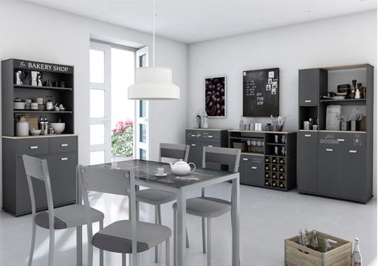 Mesa auxiliar baja, buffet con estantes, armario, alacena… un sinfín ...